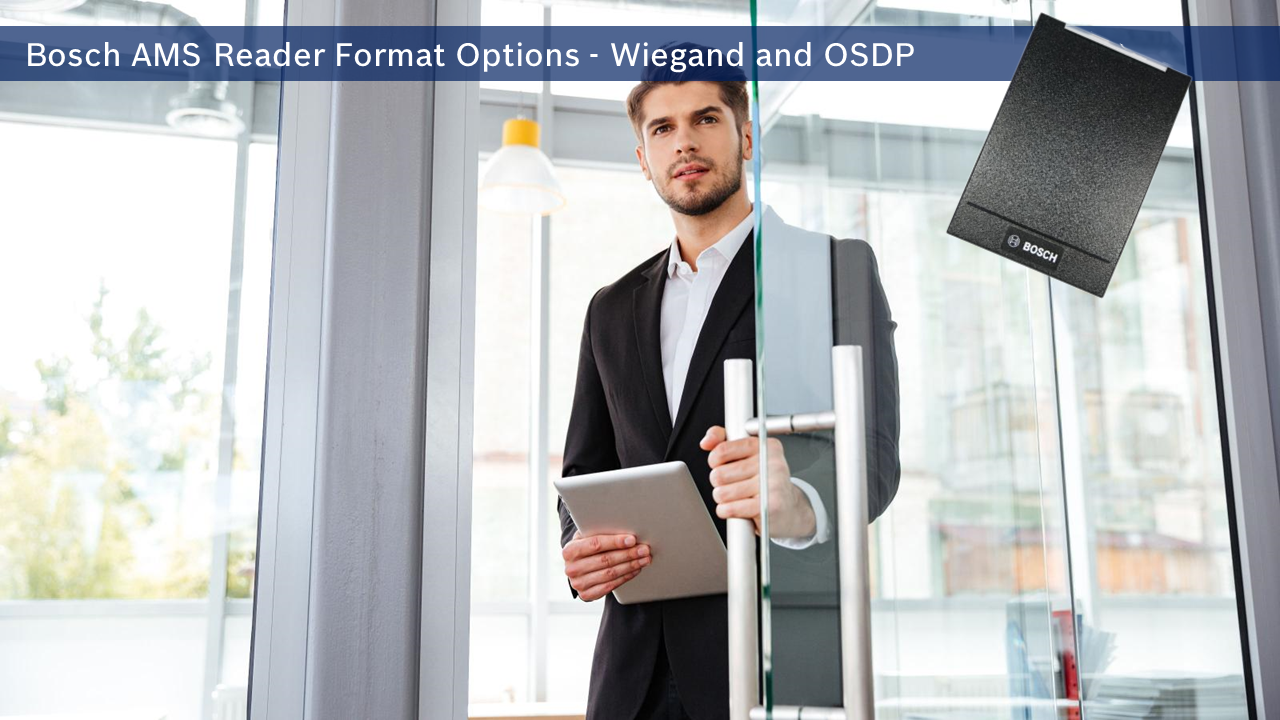 AMS Card and Reader Format Options - Wiegand and OSDP