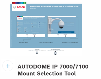 AutoDome IP 7000-7100 Mount Selection Guide