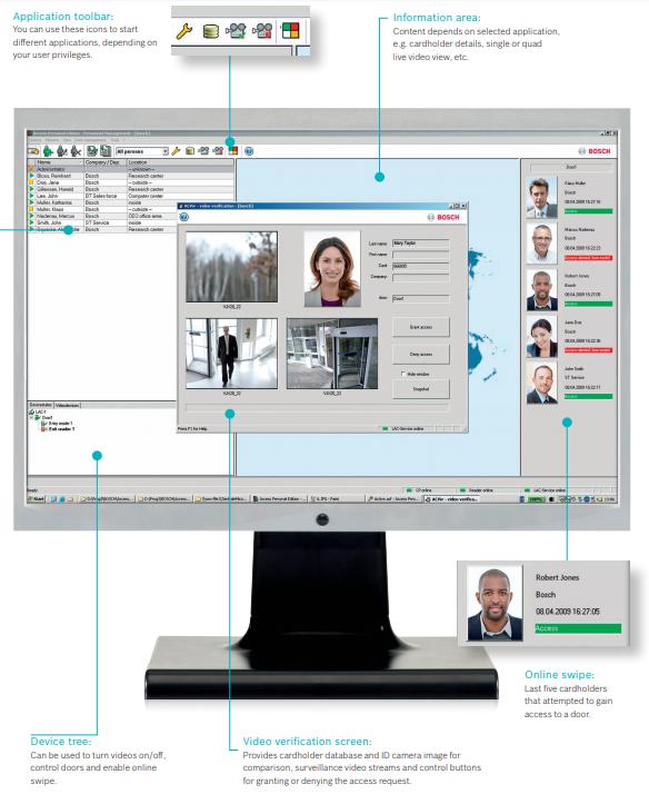 Bosch Access Professional Edition user screen