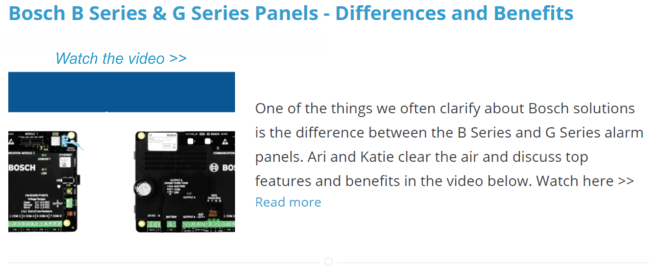 Bosch B Series & G Series Panels - Differences and Benefits