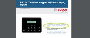Bosch B921C Capacitive Keypad