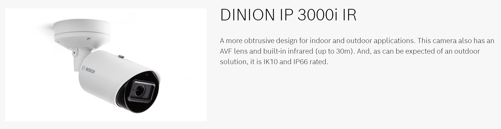 Bosch Dinion IP 3000i IR banner