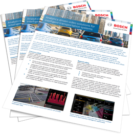 Bosch ITS video analytics brochure image
