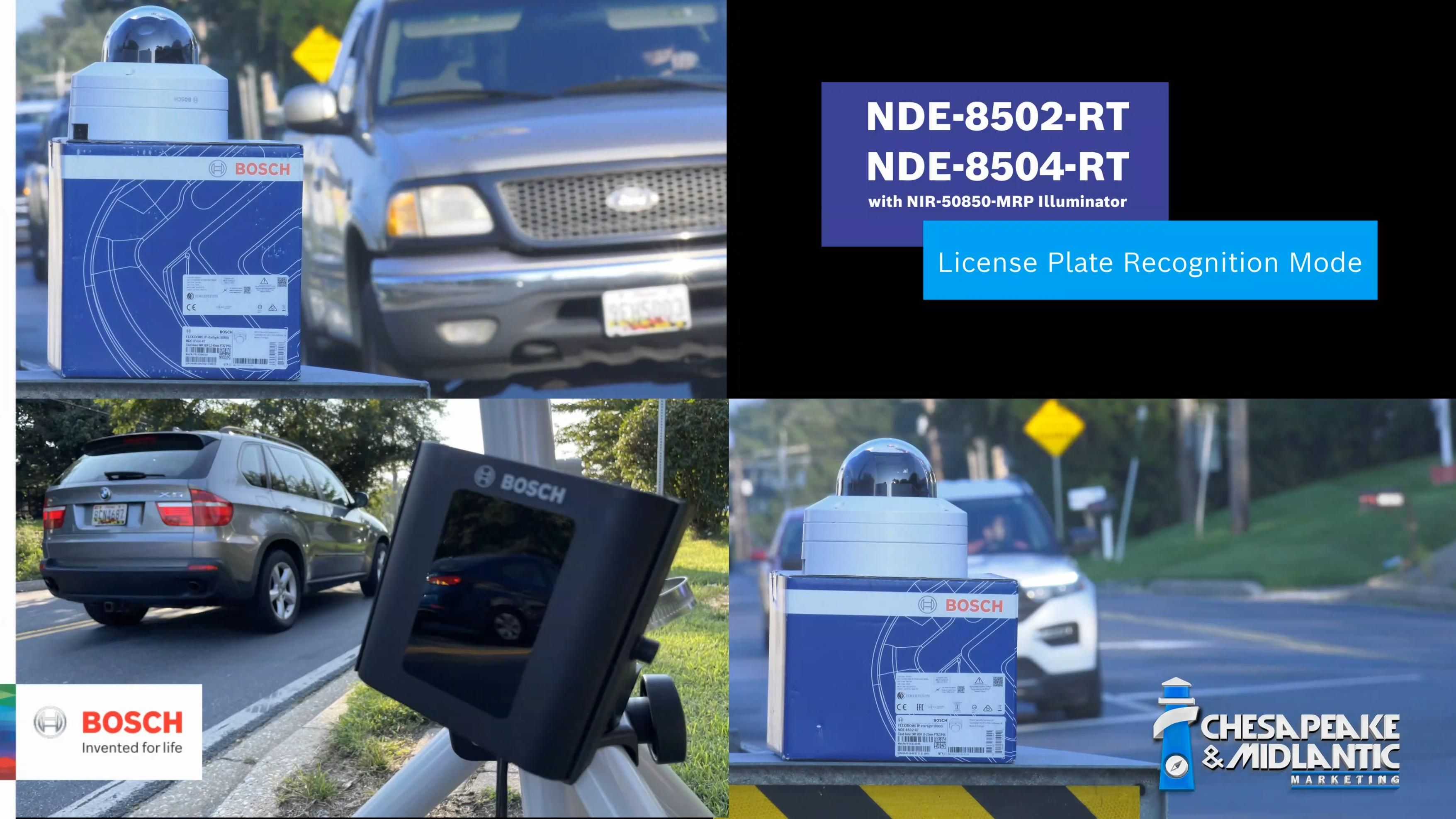 Bosch NDE-8502-RT and NDE-8504-RT with  NIR-50850-MRP LPR Mode Demonstration thumbnail