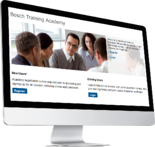Bosch Training Academy Login Page computer screen