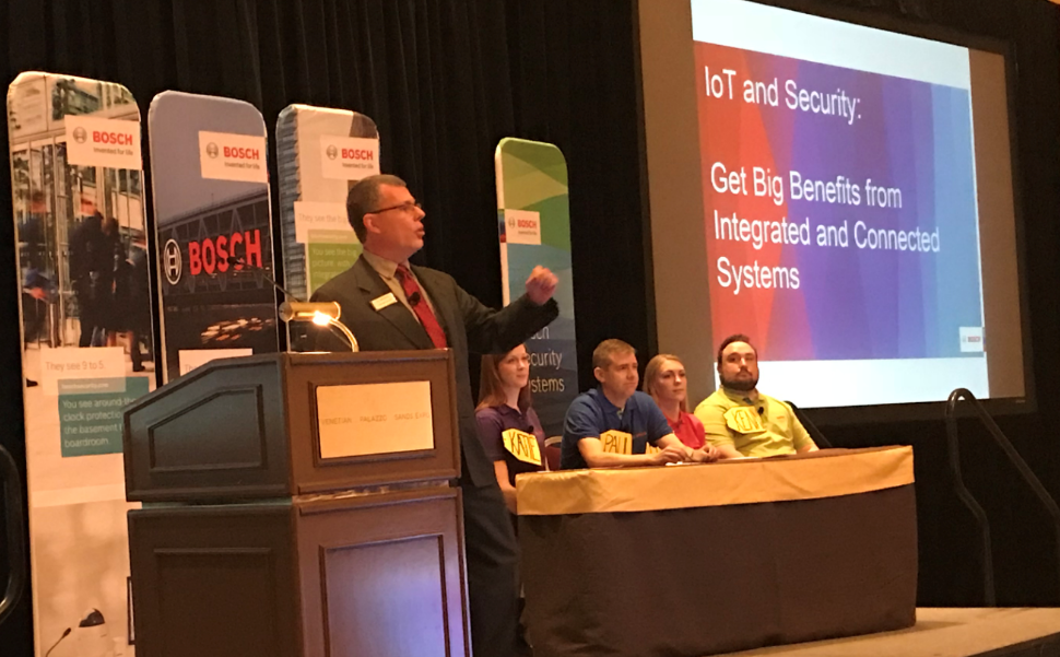 Bosch lunch and learn game ISC West 2018