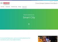 Bosch smart city solution web page image