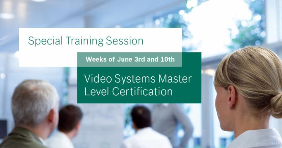 Bosch training academy video systems master level class image