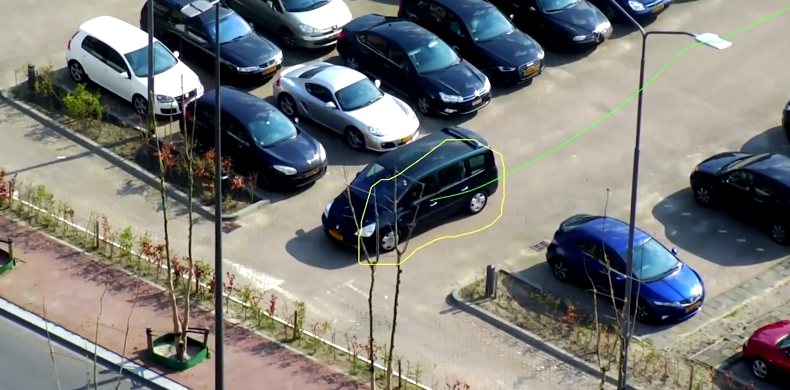 Car with video analytics tracking-2