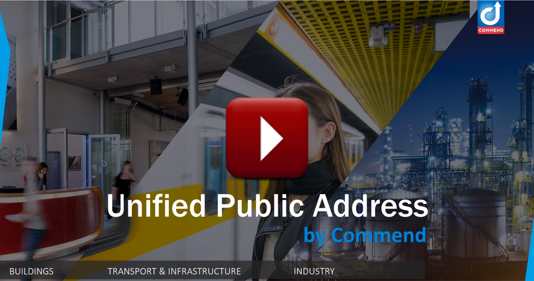 Commend unified public address video thumbnail - play button