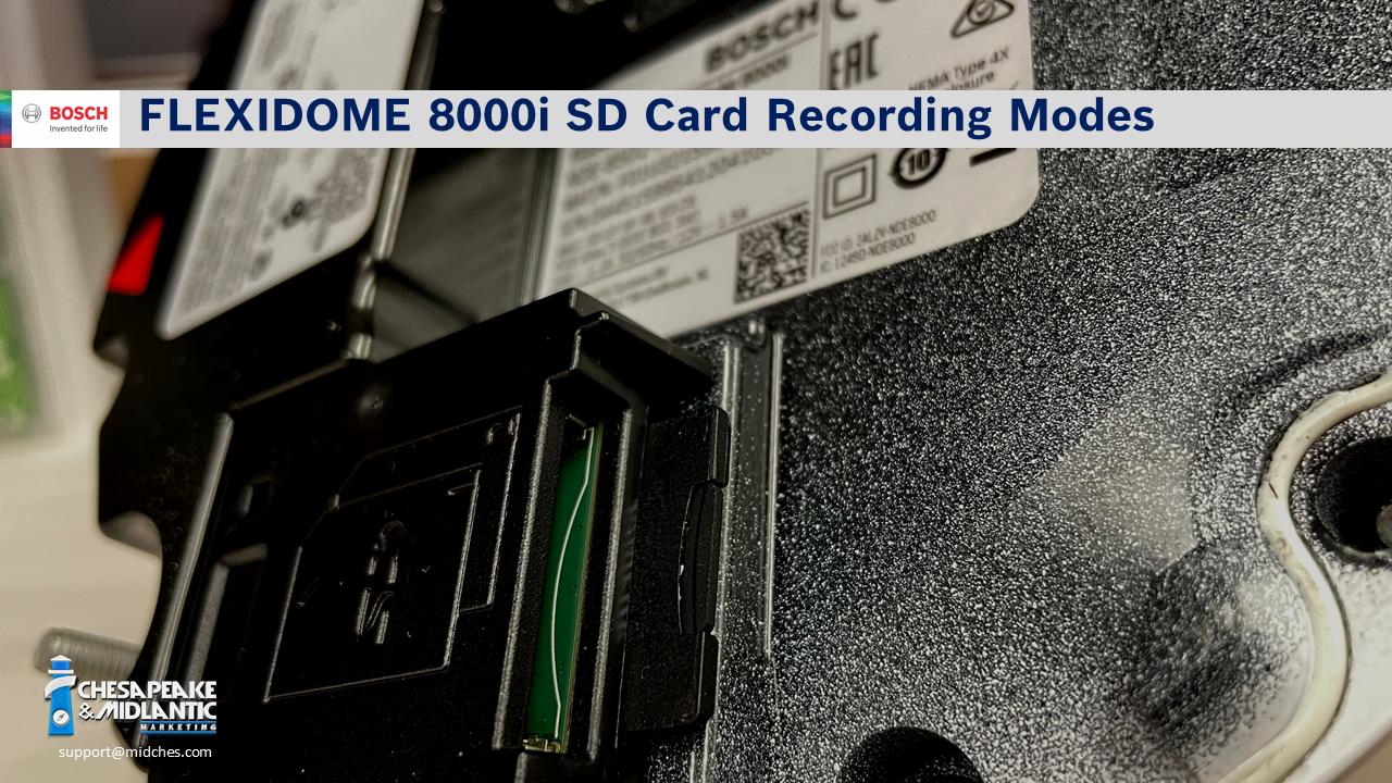 FLEXIDOME 8000i SD Card Recording Modes with Logo