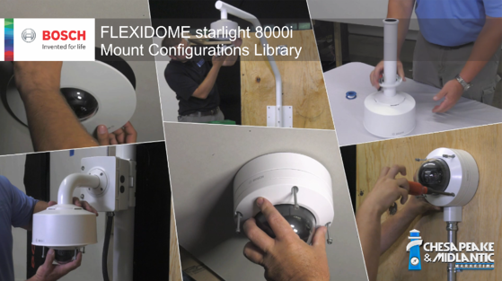 FLEXIDOME starlight 8000i mount configuration library image