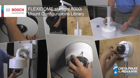 FLEXIDOME starlight 8000i mount configuration library image