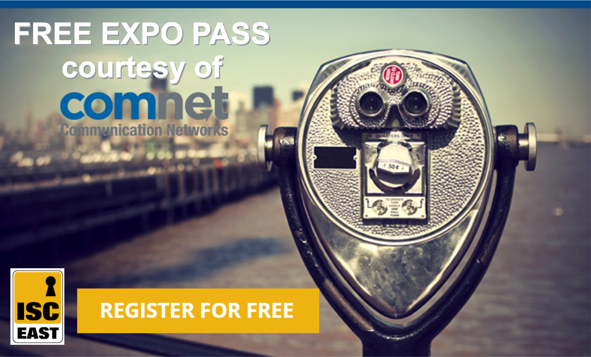Free ISC East Pass from Comnet image