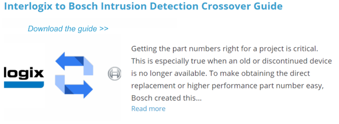 Interlogix to Bosch Intrusion Detection Crossover Guide-1