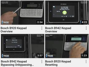 Intrusion Keypads collage