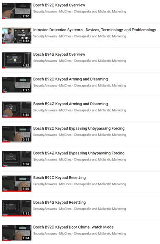 Keypad video list 1