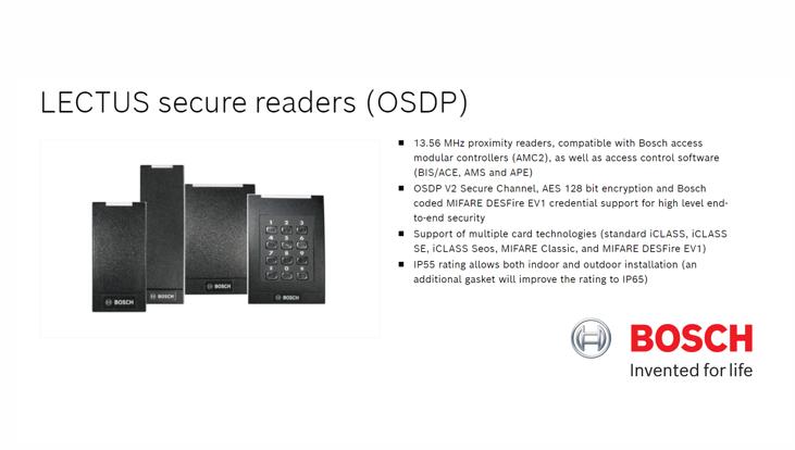 LECTUS secure card readers - OSDP
