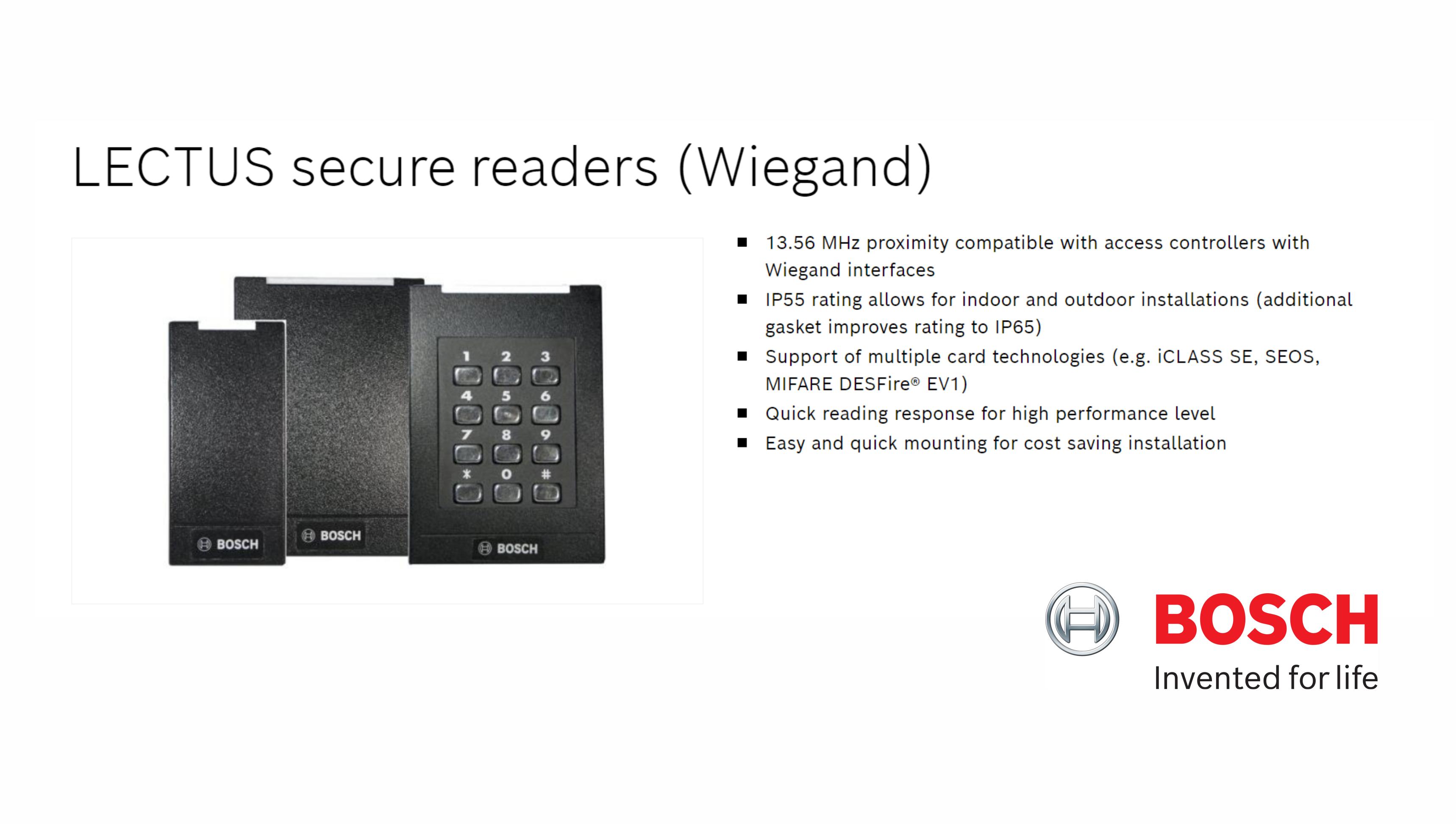 LECTUS secure card readers - Wiegand
