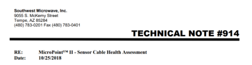 MicroPoint™ II - Sensor Cable Health Assessment image
