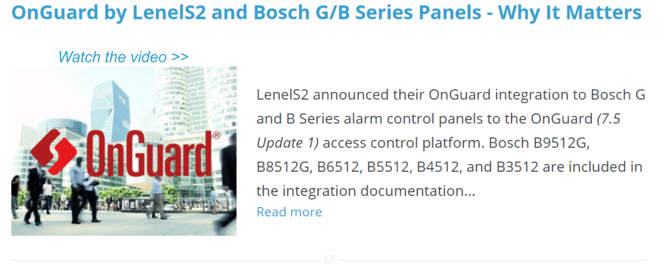 OnGuard by LenelS2 and Bosch G B Series Panels - Why It Matters
