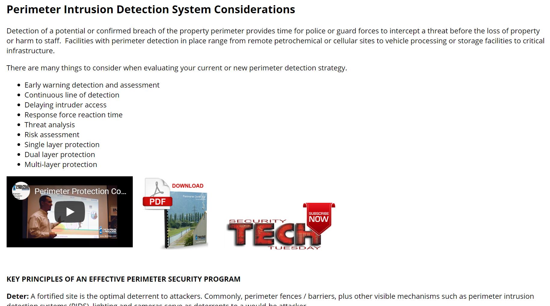 Perimeter detection portal image