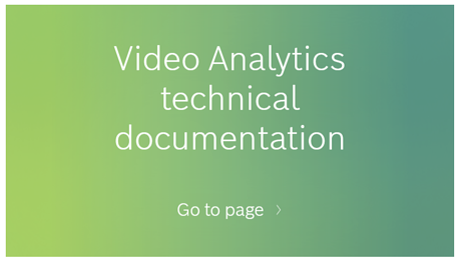 Video analytics echnical documentation image