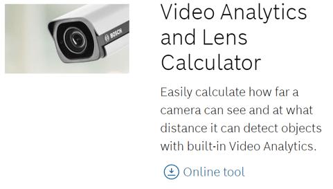 Video analytics lens calculator image