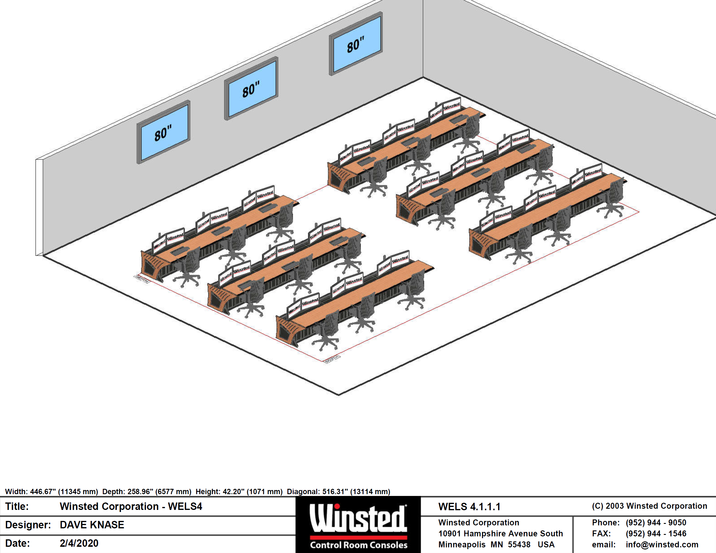 Winsted mission control room - WELS diagram